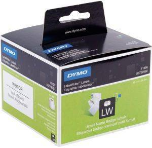 DYMO ΕΤΙΚΕΤΕΣ REMOVABLE WHITE NAME BADGE 89MM X 41MM / 300 LABELS 11356 S0722560