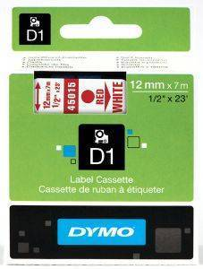 DYMO ΕΤΙΚΕΤΕΣ D1 12MM RED/WHITE 45015 S0720550