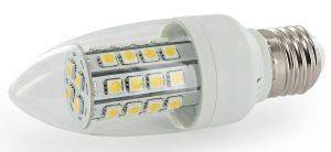 ΛΑΜΠΤΗΡΑΣ WHITENERGY LED C35 36SMD 5050 E27 5W WHITE WARM