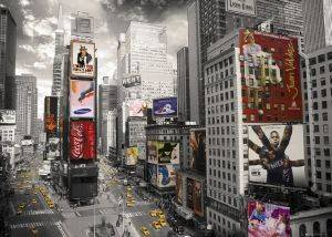 POSTER NEW YORK TIME SQUARE 2 100X140CM