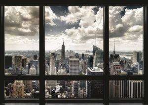 POSTER NEW YORK WINDOW 100X140CM