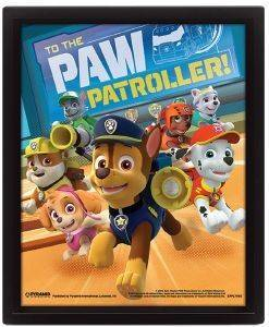 3D POSTER PAW PATROL (TO THE PAW PATROLLER) 25.4X20.32CM