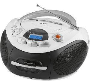 AEG SR 4353 STEREO CASSETTE RADIO WITH CD WHITE