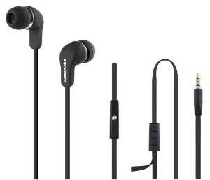 QOLTEC 50800 IN-EAR HEADPHONES WITH MICROPHONE BLACK
