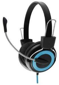 ESPERANZA EH152B STEREO HEADPHONES WITH MICROPHONE FALCON BLUE