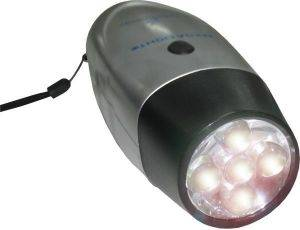 TORCH LIGHT 5 LED RECHARGABLE BY DYNAMO