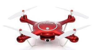 SYMA X5UW 4-CHANNEL 2.4G QUAD COPTER WITH GYRO + 720P WIFI CAMERA RED