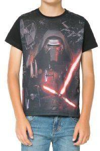 T-SHIRT DESIGUAL CREUS STAR WARS ΜΑΥΡΟ
