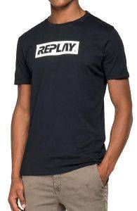 T-SHIRT REPLAY M3845 .000.2660 ΜΑΥΡΟ