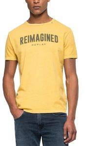T-SHIRT REPLAY M3881 .000.22662G ΚΙΤΡΙΝΟ