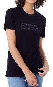 T-SHIRT REPLAY W3940U.000.22658 ΜΑΥΡΟ (S)
