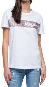 T-SHIRT REPLAY W3940R.000.22660 ΛΕΥΚΟ