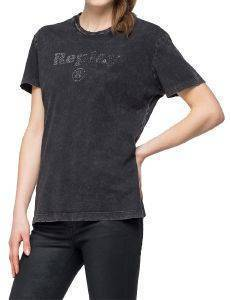 T-SHIRT REPLAY W3940S.000.22658M ΜΑΥΡΟ