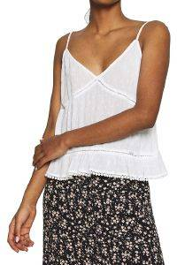 TOP SUPERDRY SUMMER LACE CAMI W6010063A ΛΕΥΚΟ