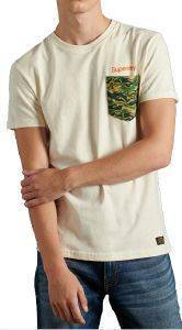 T-SHIRT SUPERDRY CL CANVAS M1010354A ΚΡΕΜ