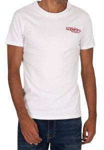 T-SHIRT SUPERDRY CL ATH MICRO M1010353A ΛΕΥΚΟ