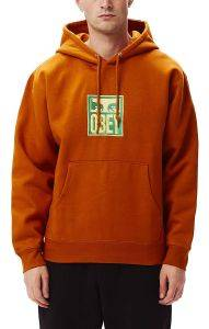 HOODIE OBEY STACK 112470103 ΠΟΡΤΟΚΑΛΙ