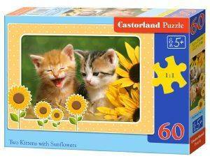 TWO KITTENS WITH SUNFLOWERS CASTORLAND 60 ΚΟΜΜΑΤΙΑ