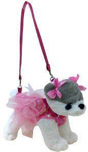 ΤΣΑΝΤΑΚΙ-ΣΚΥΛΑΚΙ JUST TOYS DOGGIE STAR HUSKI 25CM [DS-23]