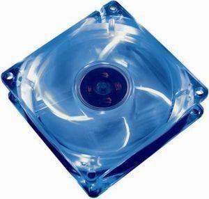 AKASA AK-170CB-4BLS 80MM CRYSTAL BLUE FAN WITH 4 BLUE LEDS
