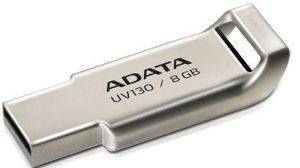 ADATA DASHDRIVE UV130 8GB USB2.0 FLASH DRIVE CHAMPAGNE GOLDEN