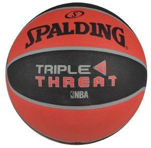 ΜΠΑΛΑ SPALDING NBA TRIPLE THREAT COLOUR RUBBER ΚΟΚΚΙΝΗ/ΜΑΥΡΗ (7)