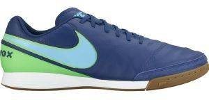 ΠΑΠΟΥΤΣΙ NIKE TIEMPOX GENIO II LEATHER INDOOR (IC) ΜΠΛΕ (USA:11, EU:45)