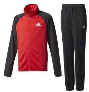 ΦΟΡΜΑ ADIDAS PERFORMANCE BOYS TRACKSUIT ENTRY CLOSED HEM ΜΑΥΡΗ/ΚΟΚΚΙΝΗ