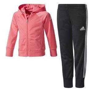 ΦΟΡΜΑ ADIDAS PERFORMANCE LITTLE GIRLS KNITTER TRACK SUIT ΡΟΖ/ΜΑΥΡΗ