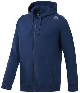 ΖΑΚΕΤΑ REEBOK SPORT ELEMENTS FLEECE FULL ZIP HOODIE ΜΠΛΕ