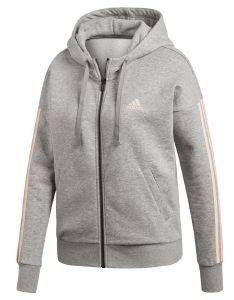ΖΑΚΕΤΑ ADIDAS PERFORMANCE ESSENTIALS 3S FZ HOODIE ΓΚΡΙ