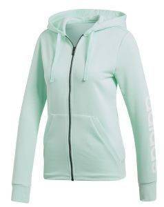 ΖΑΚΕΤΑ ADIDAS PERFORMANCE ESSENTIALS LINEAR FZ HOODED TRACK TOP ΘΑΛΑΣΣΙ