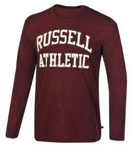 ΜΠΛΟΥΖΑ RUSSELL ATHLETIC LS CREWNECK LOGO PRINT ΒΥΣΣΙΝΙ