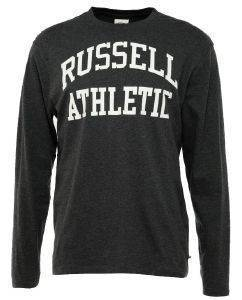 ΜΠΛΟΥΖΑ RUSSELL ATHLETIC LS CREWNECK LOGO PRINT ΓΚΡΙ