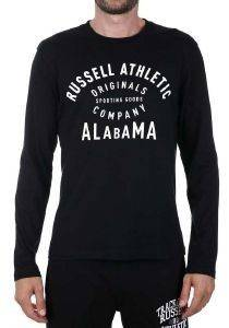 ΜΠΛΟΥΖΑ RUSSELL ATHLETIC LS CREWNECK GRAPHIC ΜΑΥΡΗ