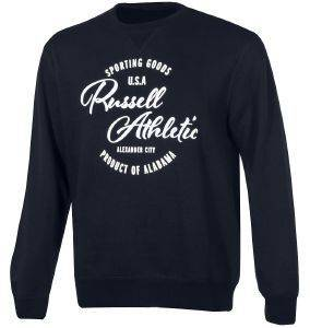 ΜΠΛΟΥΖΑ RUSSELL ATHLETIC CREWNECK SWEATSHIRT GRAPHIC ΜΠΛΕ ΣΚΟΥΡΟ