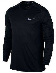 ΜΠΛΟΥΖΑ NIKE DRY MILER LONG SLEEVE RUNNING TOP ΜΑΥΡΗ