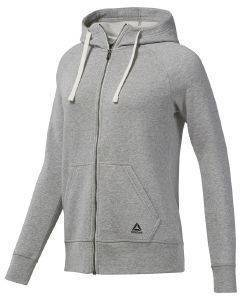 ΖΑΚΕΤΑ REEBOK SPORT ESSENTIALS FLEECE FULL ZIP HOODIE ΓΚΡΙ