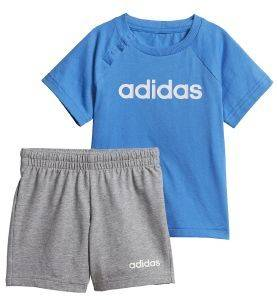 ΣΕΤ ADIDAS PERFORMANCE LINEAR SUMMER SET ΜΠΛΕ/ΓΚΡΙ (92 CM)