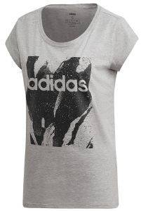 ΜΠΛΟΥΖΑ ADIDAS PERFORMANCE ESSENTIALS ALLOVER PRINT TEE ΓΚΡΙ (S)
