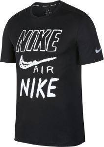 ΜΠΛΟΥΖΑ NIKE BREATHE GRAPHIC RUNNING TOP ΜΑΥΡΗ