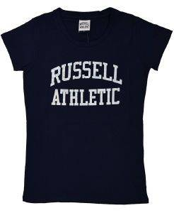 ΜΠΛΟΥΖΑ RUSSELL ATHLETIC S/S CLASSIC PRINTED S/S CREW NECK TEE ΜΠΛΕ ΣΚΟΥΡΟ (XL)