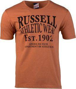 ΜΠΛΟΥΖΑ RUSSELL ATHLETIC AMERICAN TECH S/S CREWNECK TEE ΚΑΦΕ