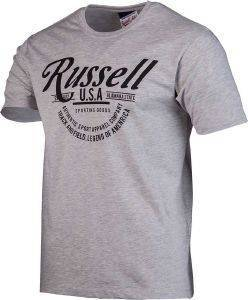 ΜΠΛΟΥΖΑ RUSSELL ATHLETIC TRACK & FIELD S/S CREWNECK TEE ΓΚΡΙ
