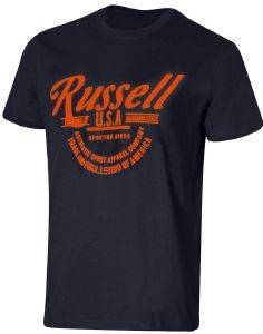 ΜΠΛΟΥΖΑ RUSSELL ATHLETIC TRACK & FIELD S/S CREWNECK TEE ΜΠΛΕ ΣΚΟΥΡΟ