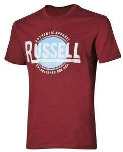 ΜΠΛΟΥΖΑ RUSSELL ATHLETIC AUTHENTIC S/S CREWNECK TEE ΒΥΣΣΙΝΙ