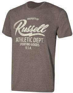 ΜΠΛΟΥΖΑ RUSSELL ATHLETIC PROPERTY OF S/S CREWNECK TEE ΓΚΡΙ ΜΕΛΑΝΖΕ