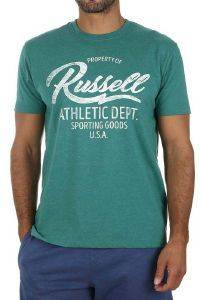 ΜΠΛΟΥΖΑ RUSSELL ATHLETIC PROPERTY OF S/S CREWNECK TEE ΠΡΑΣΙΝΗ