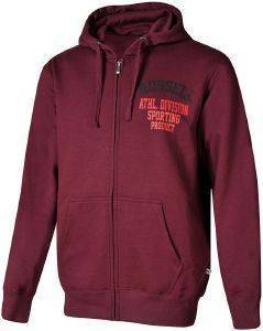 ΖΑΚΕΤΑ RUSSELL ATHLETIC DIVISION ZIP THROUGH HOODY ΜΠΟΡΝΤΩ (M)