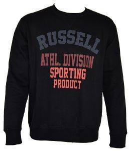 ΜΠΛΟΥΖΑ RUSSELL ATHLETIC DIVISION CREWNECK SWEATSHIRT ΜΑΥΡΗ (L)